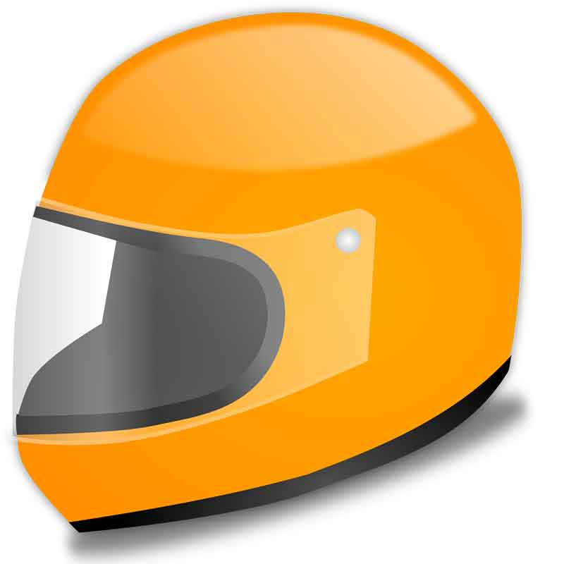 motorcycle helmet with face guard which helps motorcycle riders protect their face and teeth from lacerations